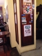 Il poster dell'Associazione al Caffè della Pusterla in via De Amicis