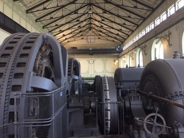 Vecchie turbine della centrale Bertini - maggio 2016