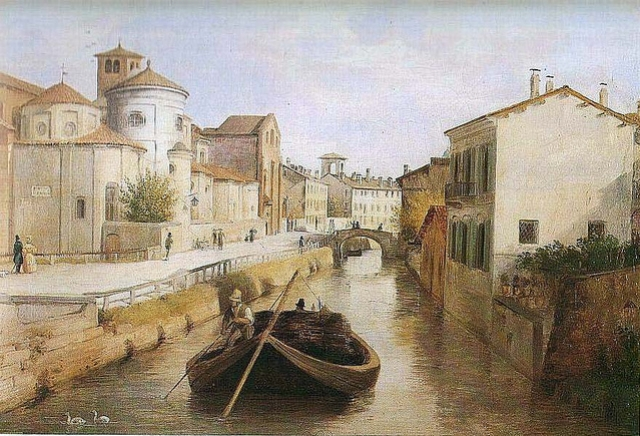 Anonimo, Naviglio di San Marco, 1830 circa