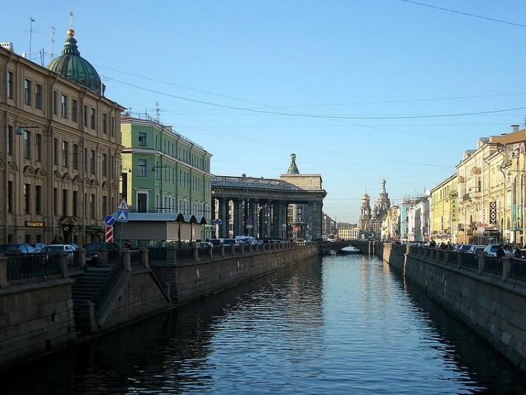 Canale Griboyedov nei pressi della Cattedrale di Kazan