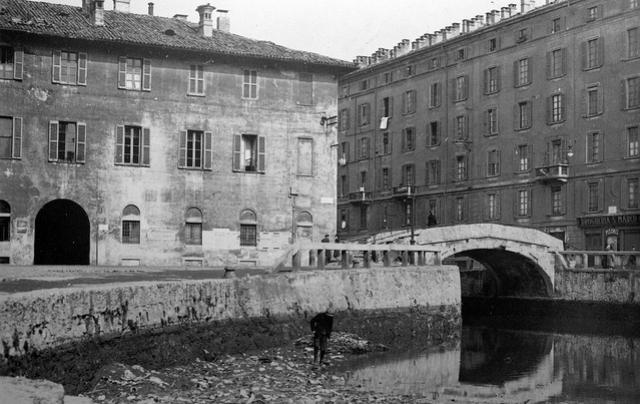 La Darsena di San Marco durante l'asciutta