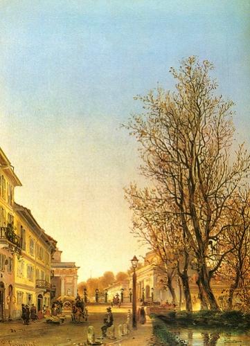 Angelo Fermini, Fuori Porta Orientale, 1850circa, olio su tela, Milano, Museo di Milano.