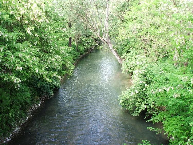 Il Canale Navile nei pressi del Parco di Villa Angeletti