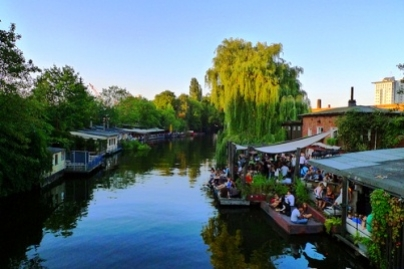 Il fiume Sprea a Berlino