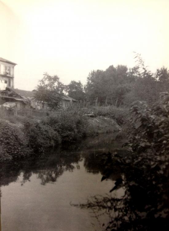 Olona, via Washington, a sinistra le sponde dell'isola Brera