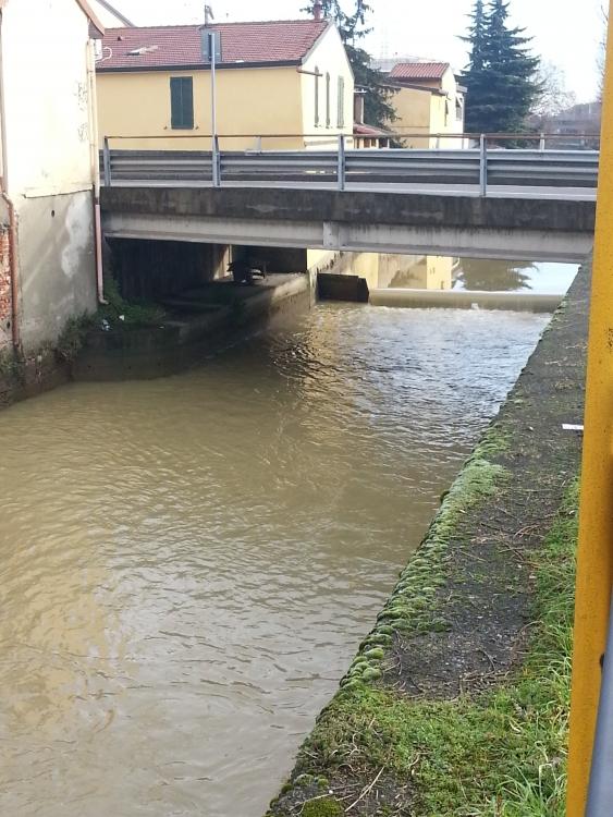 La Martesana al ponte di via Milano - Cologno Monzese - 6-01-2014