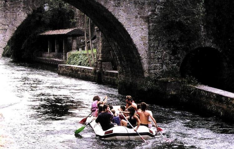 Groppello d'Adda, particolare del ponte di Groppello