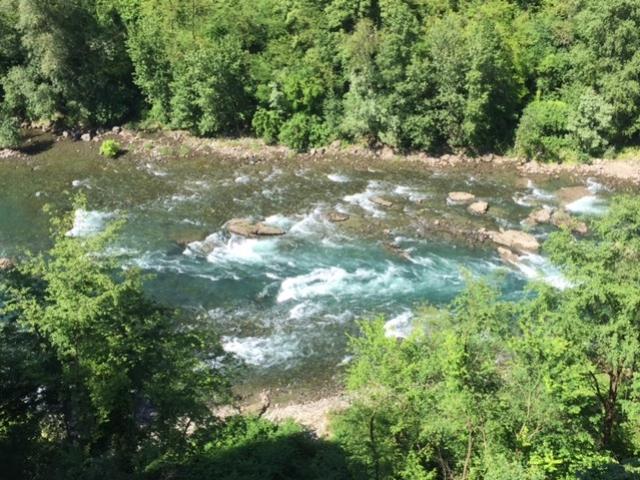 Il fiume Adda visto dal Santuario della Madonna della Rocchetta - maggio 2016