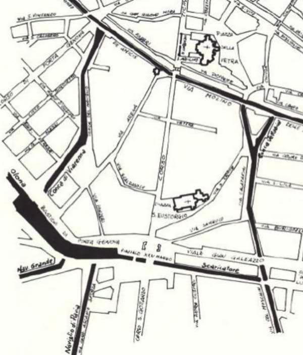 Mappa Darsena e collegamento fossa interna