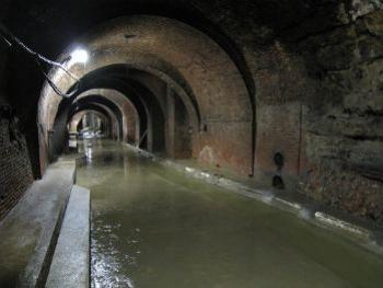 Bologna, canale sotteraneo