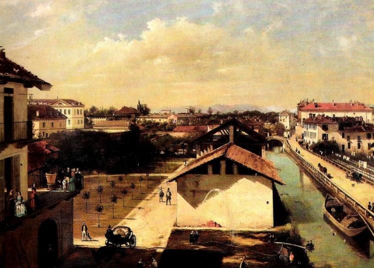 Angelo Inganni, Il Naviglio di San Marco, collezione privata