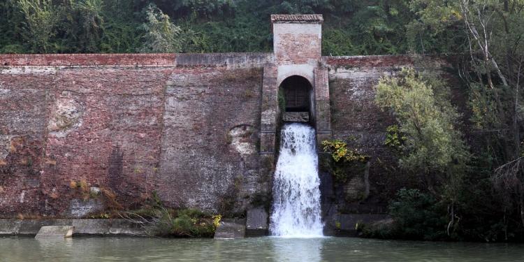 Chiusa di Casalecchio dalla quale origina il canale di Reno