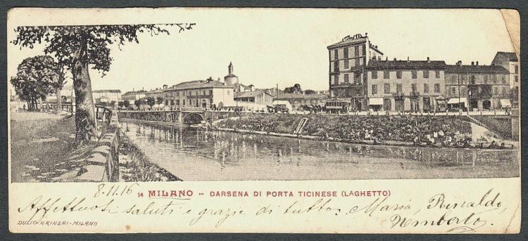 Cartolina della Darsena, 1916