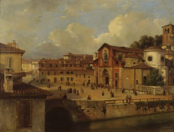 Luigi Bisi, La chiesa di San Marco , 1835-1840 circa, olio su tela, Milano, Museo di Milano.