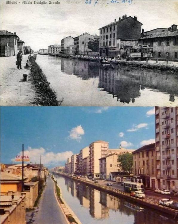 Milano, Alzaia Naviglio Grande, 1915