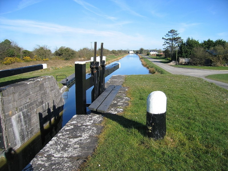 Chiusa sul Royal Canal - Contea di Westmeath a nord di Kinnegad