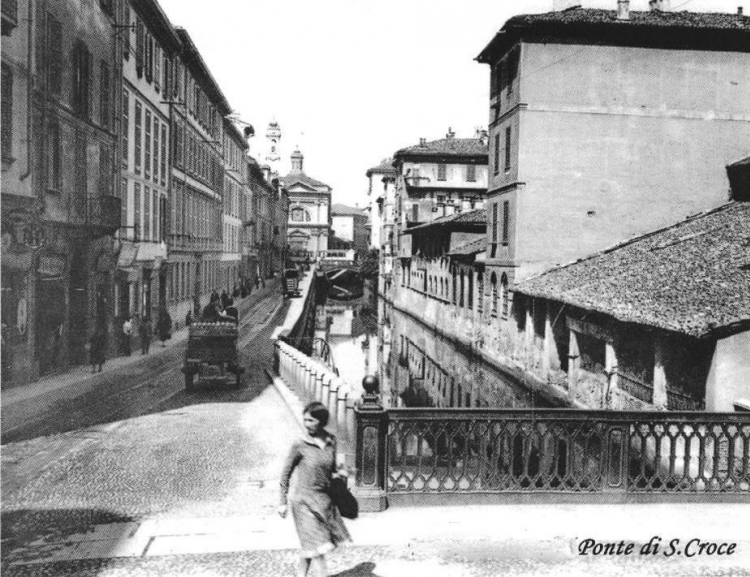 Ponte di S. Croce - da Foto Milano Sparita (Pagina Facebook)