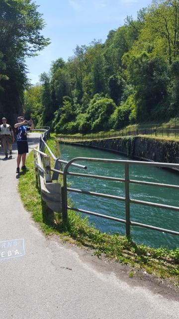 Canale di alimentazione del Naviglio di Paderno e della centrale Bertini - maggio 2016