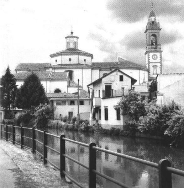 Gorgonzola, la Martesana nei pressi delle parrocchie dei S.S. Gervasio e Protasio