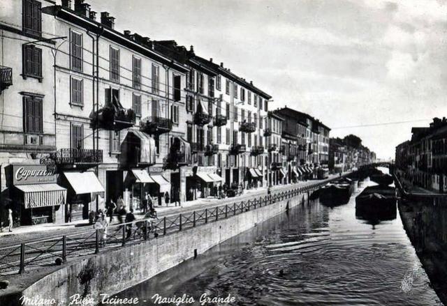 Il Naviglio Grande, anni '50