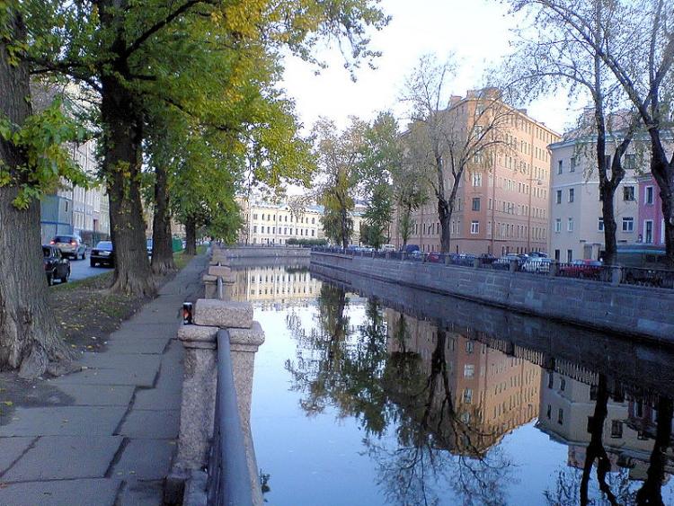 Canale Griboyedov nei pressi del ponte Harlamov