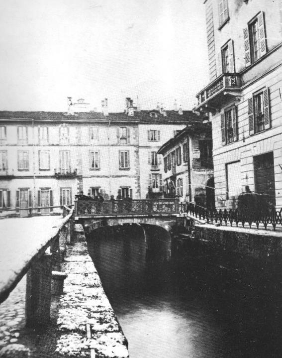 Il ponte di San Marco, in una foto di Icilio Calzolari
