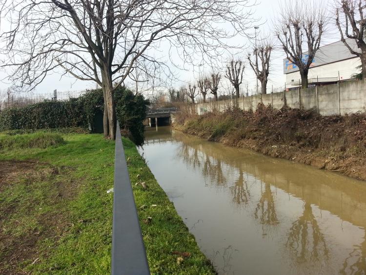 La Martesana all'incrocio con la Tangenziale Est in direzione di Milano - 6-01-2014