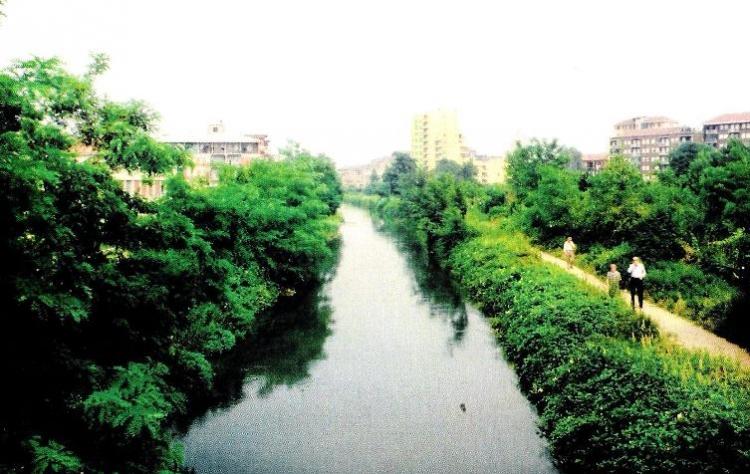 Alzaia, 1979. Piccola oasi di verde all'interno della città dove poi sarà costituito il Parco Martesana