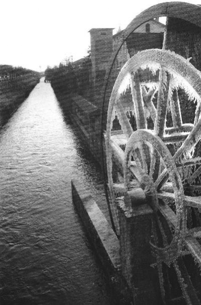 Groppello d'Adda, particolare della ruota idraulica realizzata alla fine del XVI secolo per volere di Gaspare Visconti