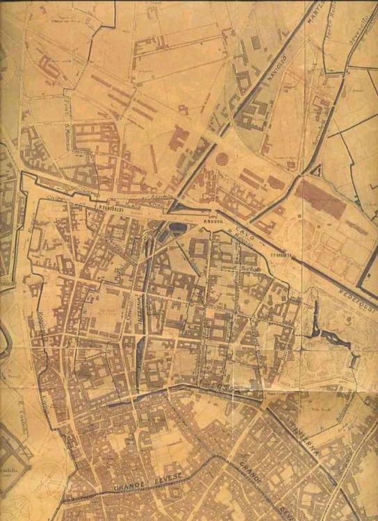 mappa storica dell'800