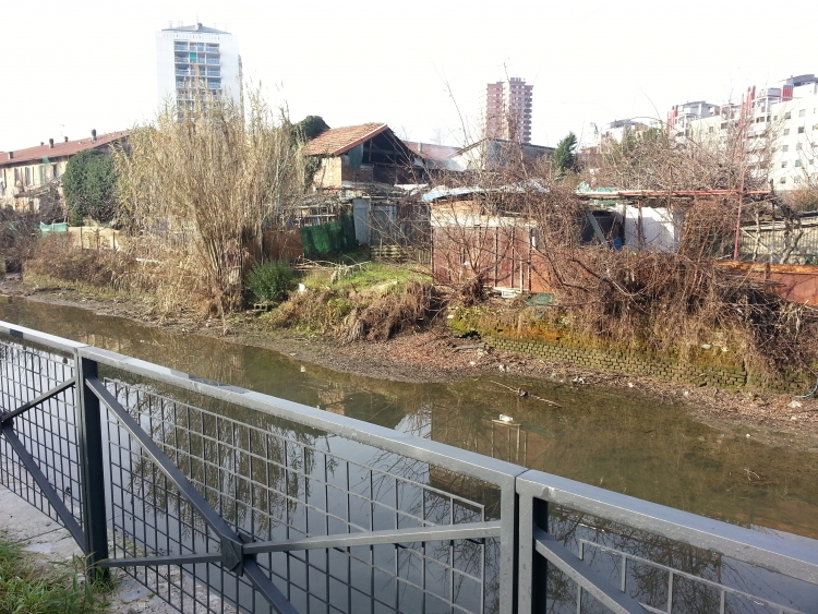 Milano, via Idro verso San Mamete - 6-01-2014