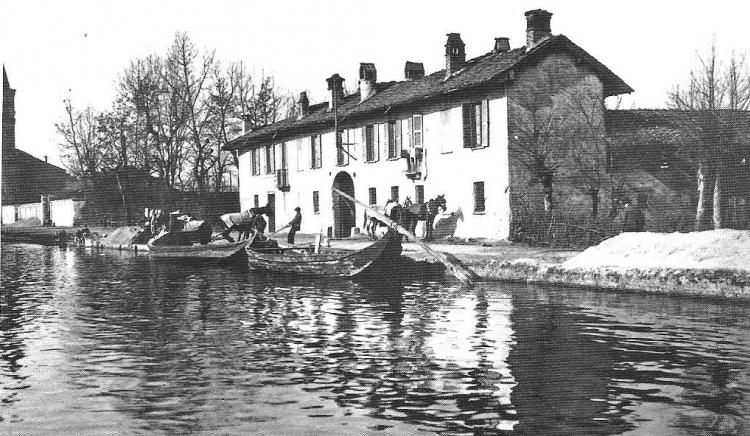 Il Naviglio Grande, Cascina Campagnola, 1910
