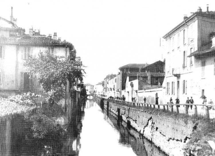 Via San Gerolamo (oggi via Carducci) - fine Ottocento